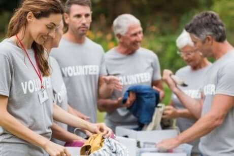 Les bénévoles pendant la crise.
