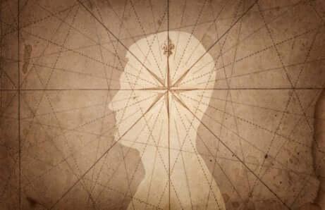Structure d'une étoile sur le dessin d'un homme.