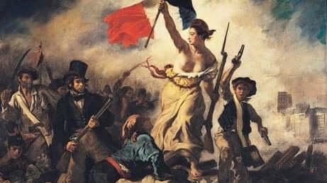 La liberté guidant le peuple de Delacroix.
