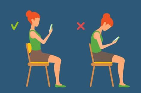 Posture correcte devant un écran.
