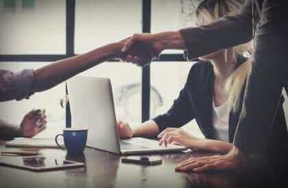 Une réunion de travail.