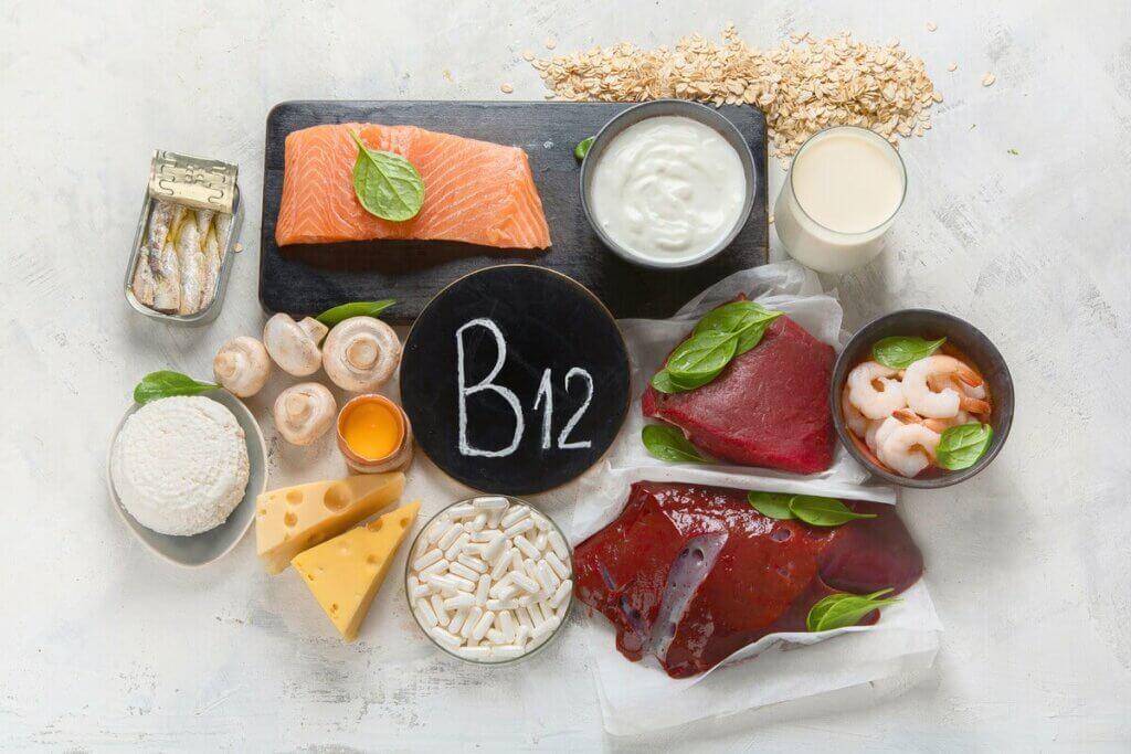 Aliments riches en vitamine B12.