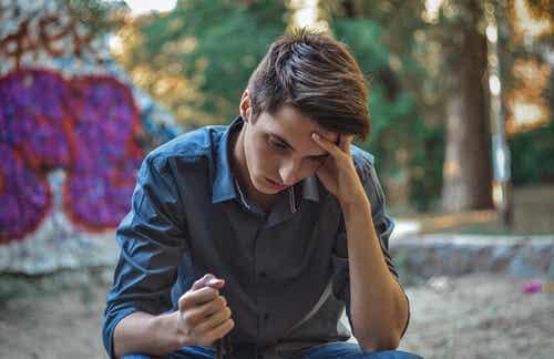 Adolescent en colère.