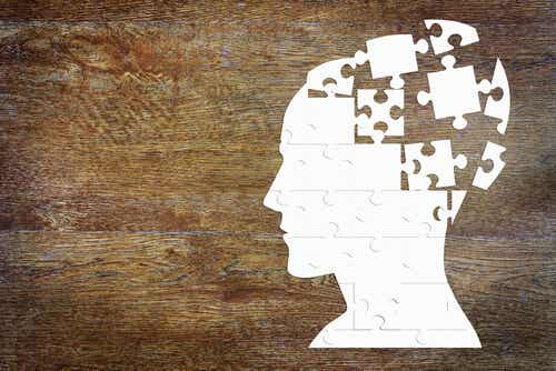 Illustration d'un crâne en forme de puzzle.