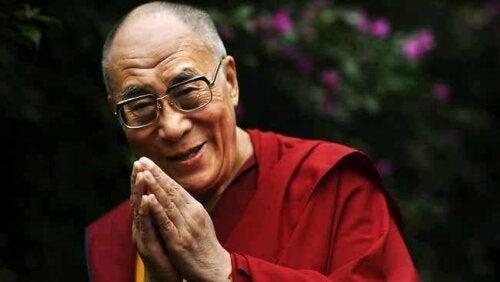 Rencontre entre Goleman et le Dalaï Lama.