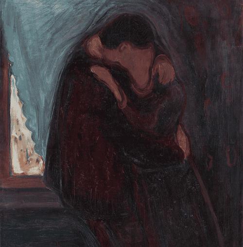Le baiser de Edvard Munch.