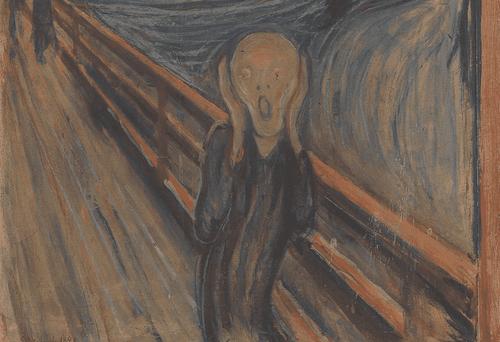 Le cri de Edvard Munch.