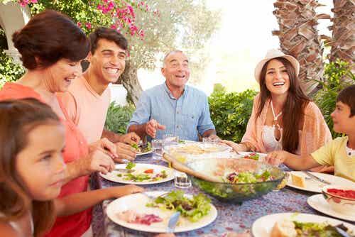 Repas de famille.