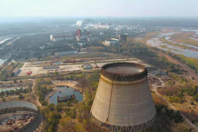 Une centrale nucléaire.