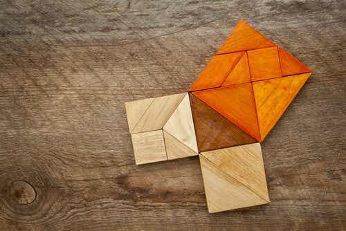 Cubes en bois.
