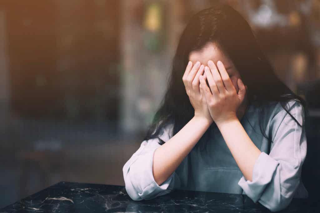 Femme anxieuse.