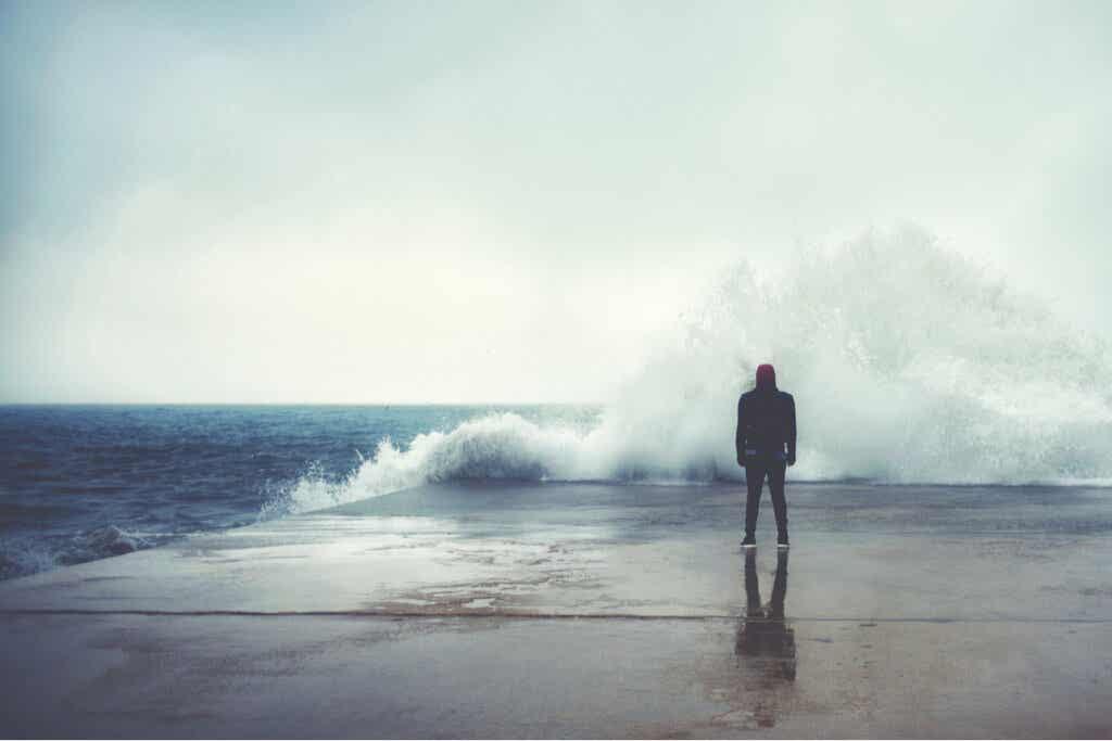 Homme face à la mer.