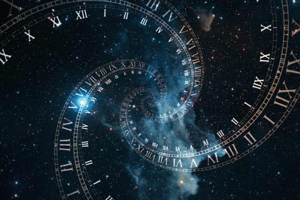 Horloge en spirale.