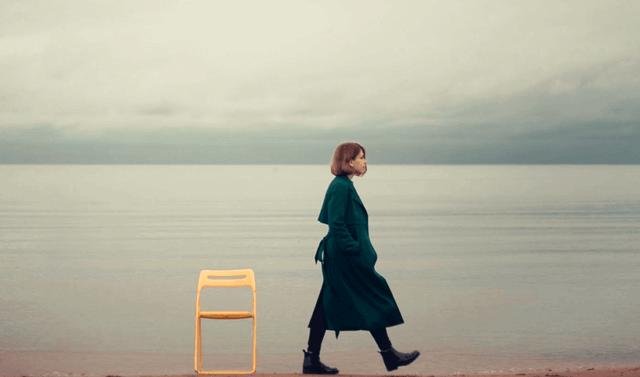 Une femme seule.