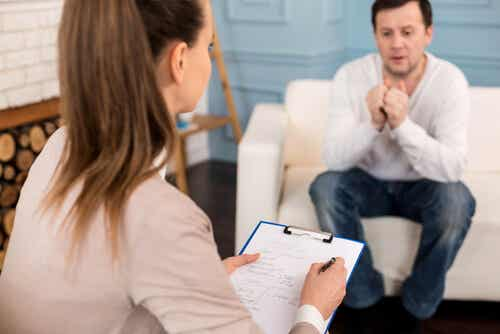 Thérapie avec un psychologue.